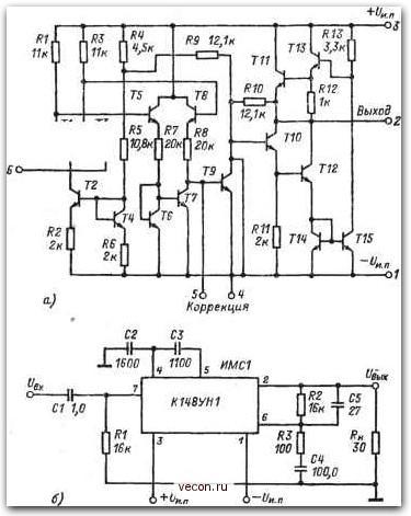 принципиальная схема микросхемы